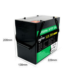 Usine 2000 cycles de 1200W 12V 12,8V 50Ah Batterie LiFePO4 pour l'AGV/Lumière LED solaire/Mini EV/chariot de golf