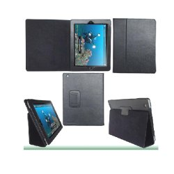 حقيبة جلدية رائعة لجهاز iPad 4 مع وظيفة النوم (HFLC-02-6)