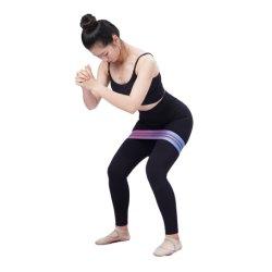 Van de Katoenen van de Sterkte van het Embleem van de douane Band van de Weerstand van de Yoga van de Lijn van de Training van de Stof de Elastische Oefening van de Geschiktheid