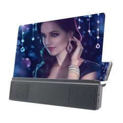 휴대용 스피커 확대경 증폭기 지원 Dropshipping를 가진 12 인치 HD 이동 전화 스크린 돋보기