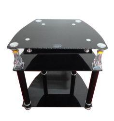Cristal templado negro moderno soporte de TV/TV gabinete