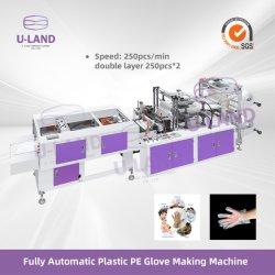 Guanto a gettare di plastica completamente automatico del PE di doppio strato che fa macchina