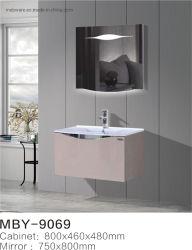 Armário com espelho de LEDS do Gabinete de PVC com armário de cor preta
