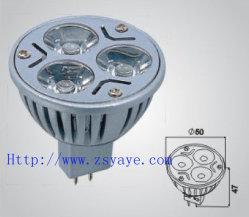 Riflettore caldo di /3W LED MR16/12V LED del riflettore di vendita 12V 3*1W MR16 LED di Yaye 18 con 2 anni di garanzia