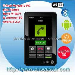 7 Polegadas 3G tablet Android Market 2.2 com a chamada telefônica, Bluetooth (S-MID70T)