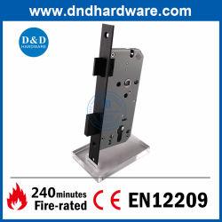 Acero inoxidable 304 CE cerrojo Lockset negro de la seguridad del cilindro de cerradura de puerta balseta