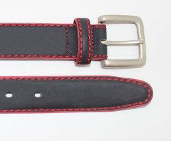 De Riem van de Jeans van het Leer van het Suède van mensen met Gift van Nice van de Mens van de Gesp van de Steen de Vierkante Met de hand gemaakte