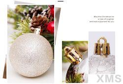 Shatterproof Innenim freienweihnachtsgroßhandelsverzierung-Plastikkugel für Weihnachtsdekoration