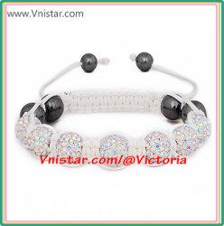 AB Crystal Stones Beads Macframe Bracelet(SBB199-9)