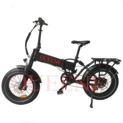 Queene/ 20-дюймовый жира подвески давление в шинах складной электрический велосипед со скрытым литиевой батареи E велосипед