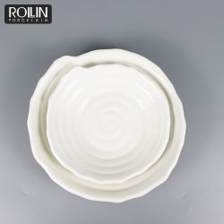 Hotel blanco de porcelana Tazón de Sopa cuencos de ronda