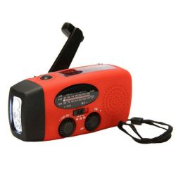 Récepteur radio solaire portable Mini USB AM/FM/WB Météo de la manivelle avec 3 lampe torche à LED de puissance 1000 mAh pour l'extérieur de la Banque ainsi de suite
