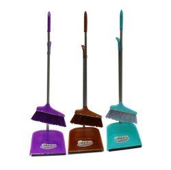 Dreifarbiges Reinigungsset Sweep Besen Dustpan Reinigungsset Haushaltsartikel