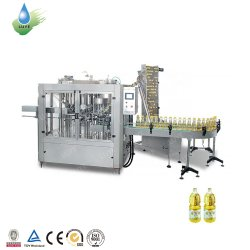 مع تحكم PLC في تعبئة/بيع زيت Siemens الساخن، زيت الضغط العادي آلة تعبئة المياه بزجاجة زجاجية زجاجية بلاستيكية سعة 1 لتر/CE الماكينة