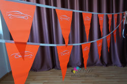 Triangle personnalisée Publicité colorés/Celebration/décoration/partie de l'événement Drapeau de la bannière Bunting