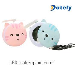 소형 휴대용 공기 냉각기 장식용 미러 장식적인 LED 가벼운 작은 팬