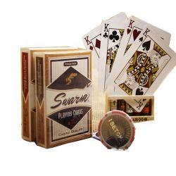 Haut du papier de qualité des cartes de tisonnier de casino Casino de gros de la lecture de carte avec code à barres