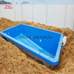 Châssis métallique petite piscine rectangulaire de la famille de fibre de verre