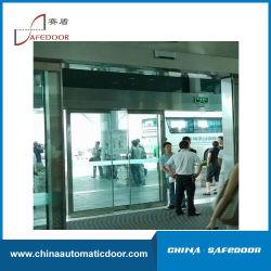 Автоматическая сдвижной двери 2X150кг потенциала, два листа стекла двери, алюминиевая рамка стекла боковой сдвижной двери