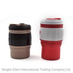Arbeitsweg-Cup-heißer Verkauf Amzon faltbarer Leck-Beweis-bunte Kaffeetasse