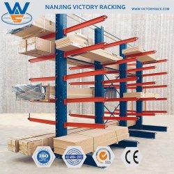 Nave industrial metálica para rack de almacenamiento en voladizo de madera