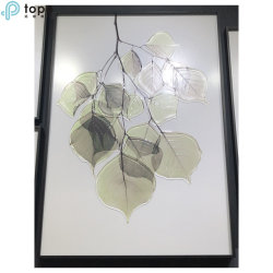 H700mm*500mm a arte de folhas verdes de vidro esculpidas decoração pendurar Pintura (MR-YB6-2057D)