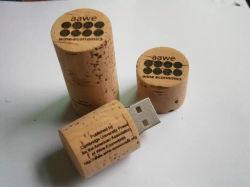 Lecteur Flash USB de Cork Bouteille de vin OEM Cork Clés USB