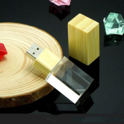 Hölzerne Kristall USB-Feder-Laufwerk-Masse-preiswerter hölzerner Kristall USB