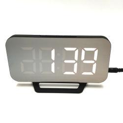 Miroir LED numérique Alarm Clock timer électronique multifonction