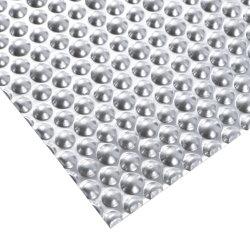 El Aluminio grabado de hoja (cuadros) la cáscara de naranja / Doble semiesférica