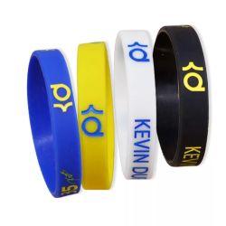 O logotipo personalizado Fashion Sport de borracha de silicone pulseiras banda colorida em relevo de PVC Debossed Slap Bracelete Moda bracelete de silicone para presente de promoção (YB-SW-321)