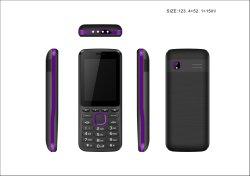 De nieuwe Telefoon van de Eigenschap tri-SIM van het Ontwerp 2.4inch met 4 leiden, met de Grote Telefoon van de Staaf van de Batterij 2500mAh