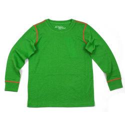 양 실행 겨울 동안 메리노 양모 모직 아이들의 녹색 열 내복