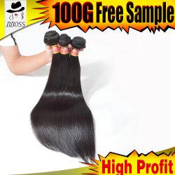 5% weg Bboss neue Haarpflegemittel-Großverkauf-preiswerte Jungfrau Remy vom rohen brasilianischen Menschenhaar