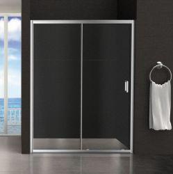 Quick-Installation Receptáculo de ducha de vidrio templado regulable// de la puerta de cabina en pantalla.
