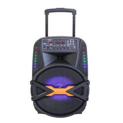 Venta caliente Temeisheng12-41 un sistema de megafonía inalámbrica activa de 12 pulgadas Altavoces portátiles con la luz y con pilas orador