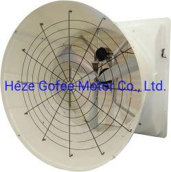 L'alto ventilatore di ventilazione del flusso d'aria nel granaio del maiale della serra o il pollame alloggia