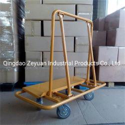 El Yeso de acero pesado carro con el carro de la plataforma de las cuatro ruedas