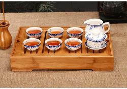 La Chine de gros de table en bois naturel d'accueil haut de Kung Fu de la plaque de thé Le thé de bambou au service de bac