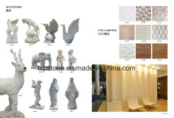 Mármore natural/Granito Lado Jardim Escultura/Estátua esculpida/Animal de escultura para a paisagem de Jardim
