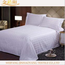 싼 면 또는 폴리에스테 침대보 침대 덮개 장 침대 시트 침구는 호텔 리넨을%s 놓았다