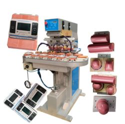 Машина Tampography блока печатной машины 4 цветные чернила лоток принтера сенсорной панели / панели печатной машины с помощью цепного транспортера