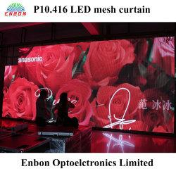 P10 полноцветный светодиодный дисплей шторы ячеистой сети вне помещений в аренду