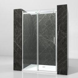 Comercio al por mayor de 8 mm de aluminio baño ducha correderas de cristal templado puertas