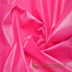 À prova de PU brilhante tecido Taffeta de nylon para guarnição de roupa, prensa, o Casaco e prova fina