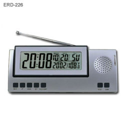LCDの目覚し時計のラジオ(ERC-226)