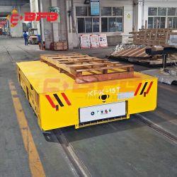 KPX 1-500톤 중부하 작업용 트랜스포터 배터리 작동식 이동 트롤리 레일 위에서 이동