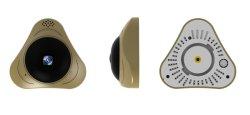 2 MP Fisheye Câmara IP sem fio Mini 360 graus a câmara de rede Vr Smart Home Pet cor dourada da câmara câmara de visão nocturna com infravermelhos TF Gravação em cartão de câmera de alta definição