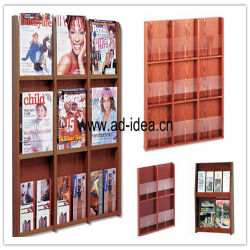 Exibição de exposições/Rack de madeira para reservar, Revista