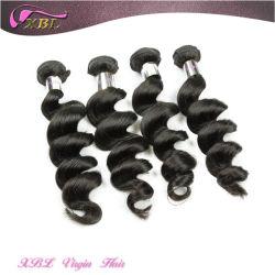 Kein chemisches indisches wellenförmiges Haar-natürliches rohes unverarbeitetes Jungfrau-Inder-Haar